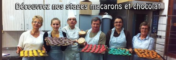 Cours de pâtisserie Macarons et Chocolats à Voiron
